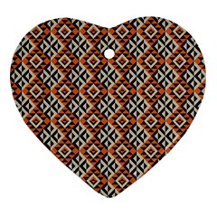 Native American Pattern 11 Heart Ornament (two Sides) by Cveti