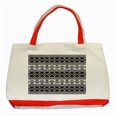 Native American 12 Classic Tote Bag (red) by Cveti