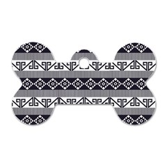 Native American 12 Dog Tag Bone (one Side) by Cveti