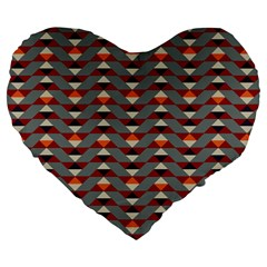Native American 13 Large 19  Premium Flano Heart Shape Cushions by Cveti