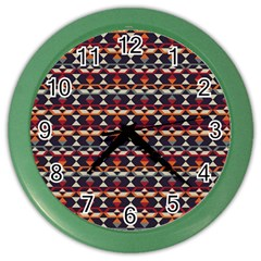 Native American Pattern 14 Color Wall Clocks