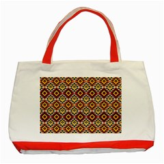 Native American Pattern 15 Classic Tote Bag (red) by Cveti