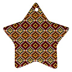 Native American Pattern 15 Star Ornament (two Sides) by Cveti
