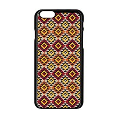 Native American Pattern 15 Apple Iphone 6/6s Black Enamel Case by Cveti