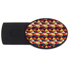 Native American Pattern 16 Usb Flash Drive Oval (2 Gb) by Cveti