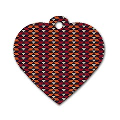 Native American Pattern 19 Dog Tag Heart (one Side) by Cveti