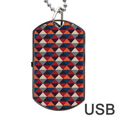 Native American Pattern 21 Dog Tag Usb Flash (two Sides) by Cveti