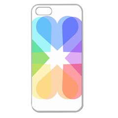Heart Love Wedding Valentine Day Apple Seamless Iphone 5 Case (clear) by Celenk