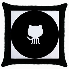 Logo Icon Github Throw Pillow Case (black) by Celenk