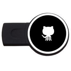 Logo Icon Github Usb Flash Drive Round (4 Gb) by Celenk