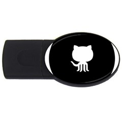 Logo Icon Github Usb Flash Drive Oval (4 Gb) by Celenk
