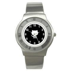 Logo Icon Github Stainless Steel Watch