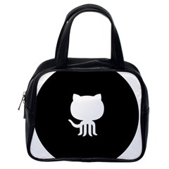 Logo Icon Github Classic Handbags (one Side) by Celenk