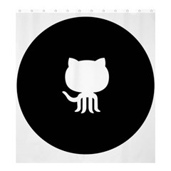 Logo Icon Github Shower Curtain 66  X 72  (large)  by Celenk