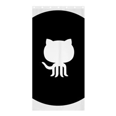 Logo Icon Github Shower Curtain 36  X 72  (stall)