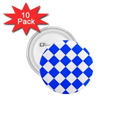 Blue White Diamonds Seamless 1 75  Buttons (10 Pack)