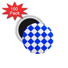 Blue White Diamonds Seamless 1 75  Magnets (100 Pack)