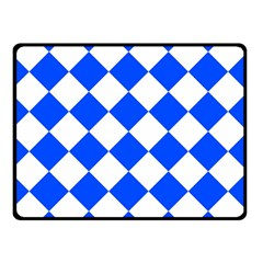 Blue White Diamonds Seamless Double Sided Fleece Blanket (small)