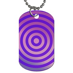 Circle Target Focus Concentric Dog Tag (one Side)