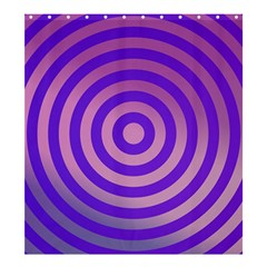 Circle Target Focus Concentric Shower Curtain 66  X 72  (large)  by Celenk