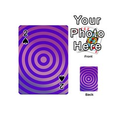 Circle Target Focus Concentric Playing Cards 54 (mini)  by Celenk