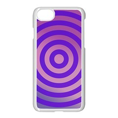 Circle Target Focus Concentric Apple Iphone 8 Seamless Case (white)