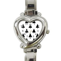 Scrap Background Spruce Christmas Heart Italian Charm Watch by Celenk