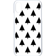 Scrap Background Spruce Christmas Apple Iphone X Seamless Case (white)