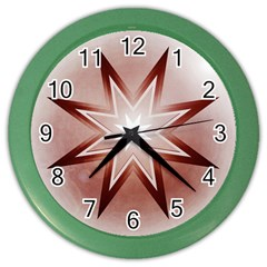 Star Christmas Festival Decoration Color Wall Clocks by Celenk