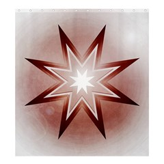 Star Christmas Festival Decoration Shower Curtain 66  X 72  (large)