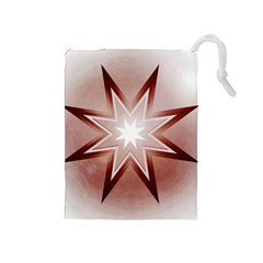 Star Christmas Festival Decoration Drawstring Pouches (medium)  by Celenk