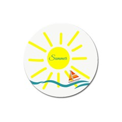 Summer Beach Holiday Holidays Sun Magnet 3  (round) by Celenk