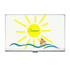 Summer Beach Holiday Holidays Sun Business Card Holders