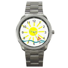 Summer Beach Holiday Holidays Sun Sport Metal Watch by Celenk