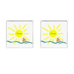 Summer Beach Holiday Holidays Sun Cufflinks (square) by Celenk