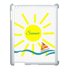 Summer Beach Holiday Holidays Sun Apple Ipad 3/4 Case (white) by Celenk