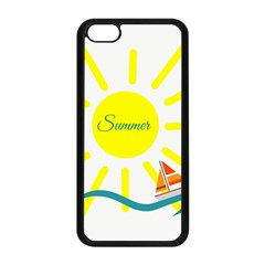 Summer Beach Holiday Holidays Sun Apple Iphone 5c Seamless Case (black) by Celenk