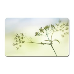 Spring Plant Nature Blue Green Magnet (rectangular)