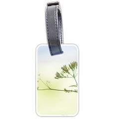 Spring Plant Nature Blue Green Luggage Tags (one Side)  by Celenk