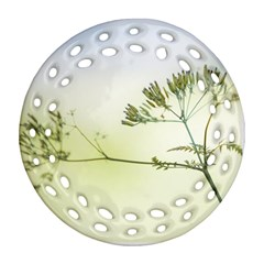 Spring Plant Nature Blue Green Ornament (round Filigree)