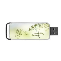 Spring Plant Nature Blue Green Portable Usb Flash (two Sides) by Celenk