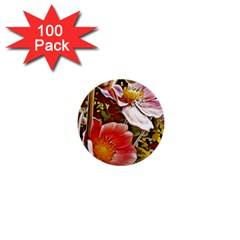 Flower Hostanamone Drawing Plant 1  Mini Buttons (100 Pack)