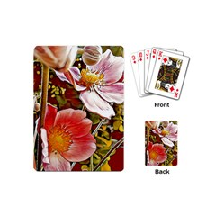 Flower Hostanamone Drawing Plant Playing Cards (mini)  by Celenk