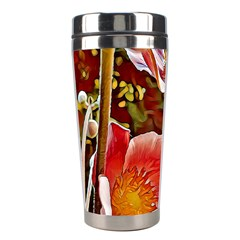 Flower Hostanamone Drawing Plant Stainless Steel Travel Tumblers by Celenk