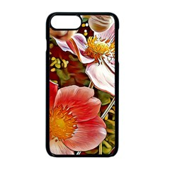 Flower Hostanamone Drawing Plant Apple Iphone 8 Plus Seamless Case (black)