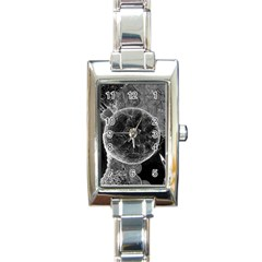 Space Universe Earth Rocket Rectangle Italian Charm Watch by Celenk