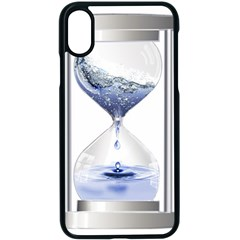 Time Water Movement Drop Of Water Apple Iphone X Seamless Case (black)
