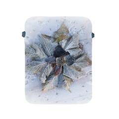 Winter Frost Ice Sheet Leaves Apple Ipad 2/3/4 Protective Soft Cases by Celenk