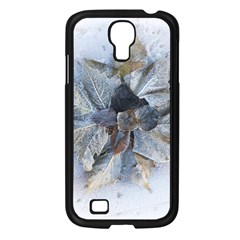 Winter Frost Ice Sheet Leaves Samsung Galaxy S4 I9500/ I9505 Case (black) by Celenk