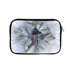 Winter Frost Ice Sheet Leaves Apple Macbook Pro 15  Zipper Case
